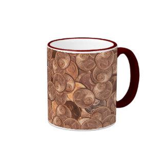 Dos céntimo taza de dos colores