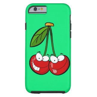 Dos cerezas tontas funda de iPhone 6 tough