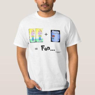 dos chicas/camisetas de la taza playera