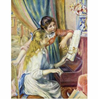 Dos chicas en el piano, por Pierre-Auguste Renoir Escultura Fotografica