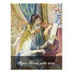 Dos chicas en el piano, por Pierre-Auguste Renoir Tarjetas Informativas