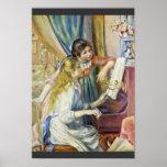 Dos chicas en el piano, por Pierre-Auguste Renoir Impresiones