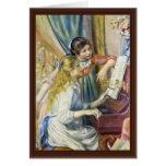 Dos chicas en el piano, por Pierre-Auguste Renoir Felicitación