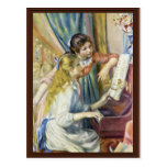Dos chicas en el piano, por Pierre-Auguste Renoir Postales