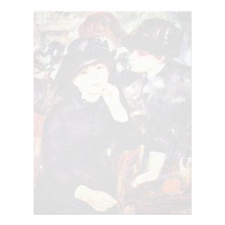 Dos chicas en negro de Pierre-Auguste Renoir Membrete A Diseño