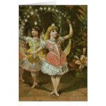 Dos chicas jóvenes realizan ballet tarjetas