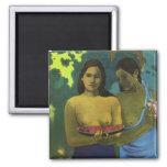 Dos chicas, Paul Gauguin Imanes De Nevera