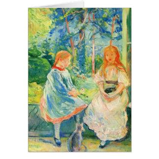 Dos chicas por la ventana de Berthe Morisot Felicitaciones