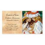 Dos chicas que leen la pintura de Pedro Auguste Re Tarjetas De Visita