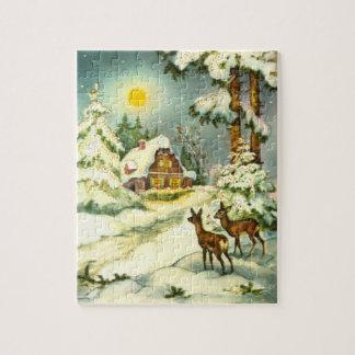 Dos ciervos en la nieve puzzles