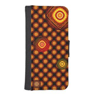 Dos círculos del tono con la caja negra del fundas billetera de iPhone 5