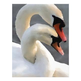 Dos cisnes membrete