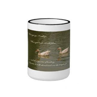Dos cisnes - tema del boda taza de café