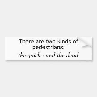 Dos clases de peatones pegatina para auto