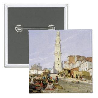 DOS Clerigos, Oporto, Portugal, 1837 de Torre (ace Pin Cuadrado