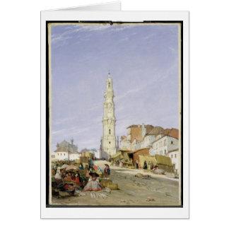 DOS Clerigos, Oporto, Portugal, 1837 de Torre (ace Tarjeta De Felicitación