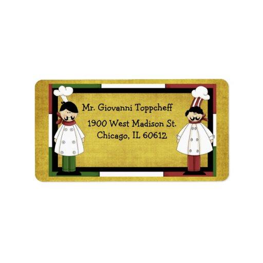 Dos cocineros son mejores de uno etiqueta de dirección