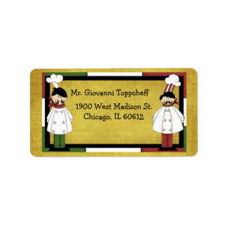 Dos cocineros son mejores de uno etiquetas de dirección