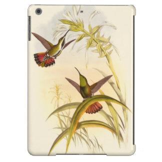 Dos colibríes coloridos que apuntan para la misma funda para iPad air