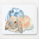 Dos conejos Mousepad Alfombrilla De Ratón