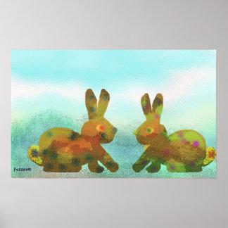 Dos conejos posters