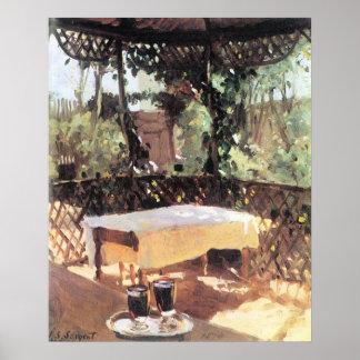 Dos copas de vino por Sargent impresionismo del v Posters