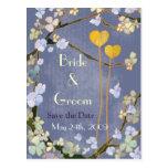 Dos corazones: Ahorre las postales del boda de la