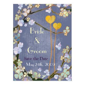 Dos corazones Ahorre las postales del boda de la