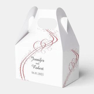 Dos corazones como una caja del favor que se casa caja para regalos de fiestas