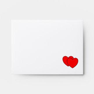 Dos corazones como uno sobres
