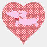 Dos corazones, dos etiquetas del sobre de los pegatina en forma de corazón