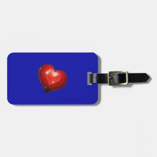 Dos corazones en amor parecen un corazón grande etiquetas maleta