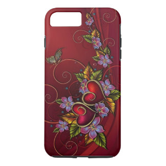 Dos corazones funda iPhone 7 plus