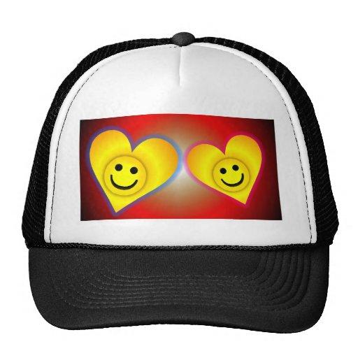 Dos corazones gorras