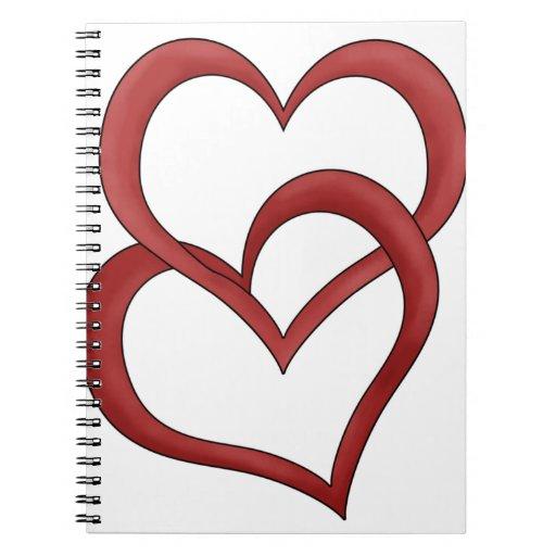 Dos corazones libros de apuntes