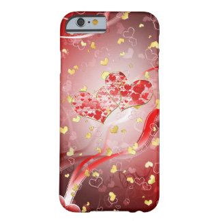 Dos corazones para siempre funda para iPhone 6 barely there