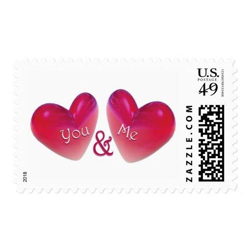 Dos corazones románticos envio