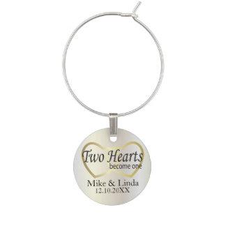 Dos corazones se convierten en uno identificadores de copas