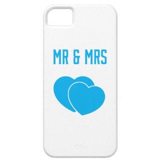 Dos corazones/Sr. y señora Phone Case iPhone 5 Carcasas