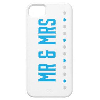 Dos corazones/Sr. y señora Phone Case iPhone 5 Fundas