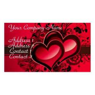 Dos corazones plantilla de tarjeta de visita