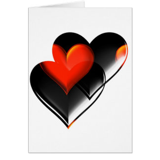 """""""Dos corazones """" * Tarjeta De Felicitación"""