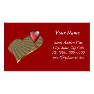 Dos corazones tarjetas de visita