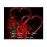 Dos corazones, una postal del amor