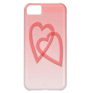 Dos corazones unidos como uno funda para iPhone 5C