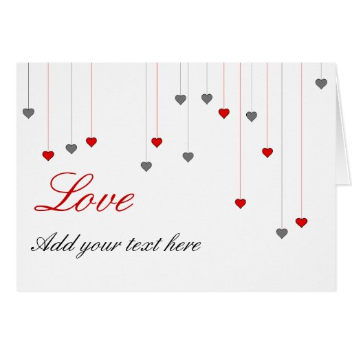 Dos corazones y amores tarjeta de felicitación