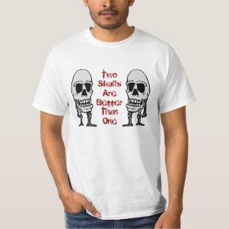 Dos cráneos son mejores de un esqueleto principal polera