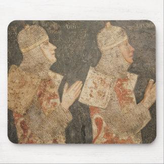 Dos cruzados de la familia de Minutolo Alfombrilla De Ratones
