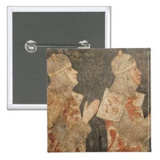 Dos cruzados de la familia de Minutolo Pin Cuadrada 5 Cm