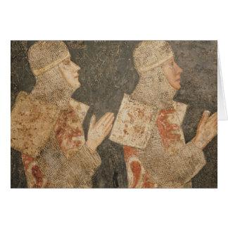 Dos cruzados de la familia de Minutolo Tarjeta De Felicitación